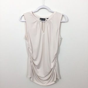 NEW YORK & CO. 7TH AVENUE RUCHED SLEEVELESS TOP